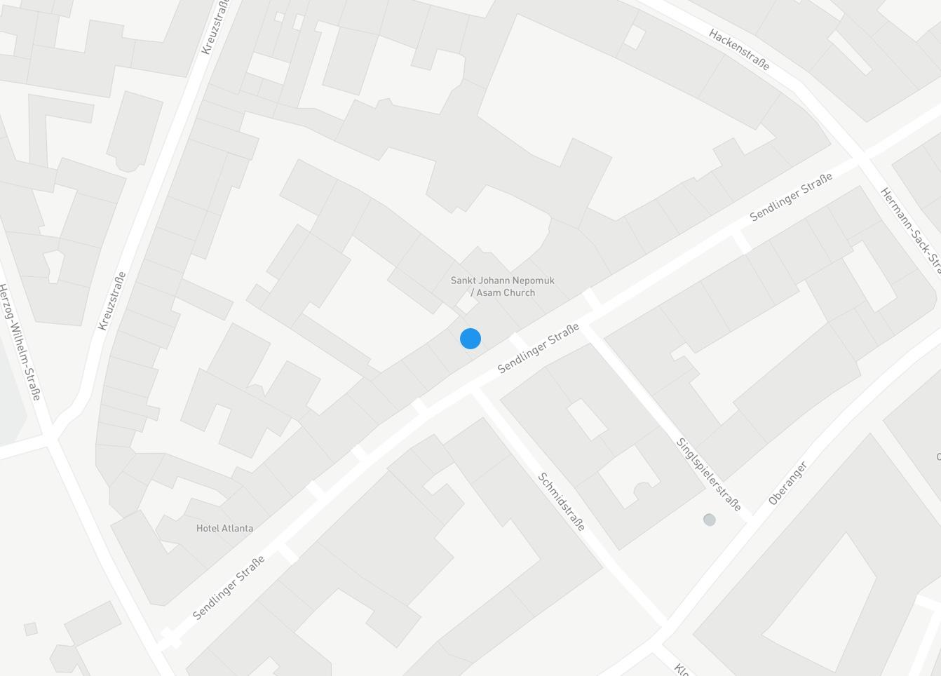 Google Maps Karte in München