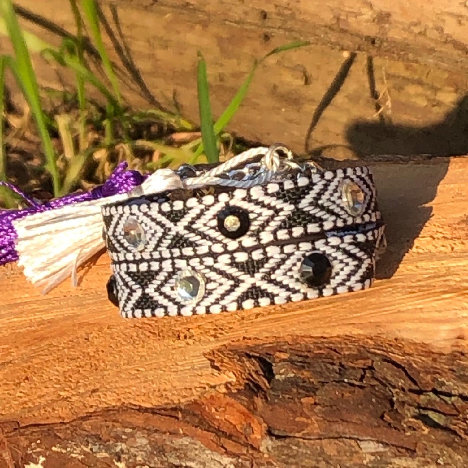 Set of Lola Ethnic Style Black & White Bracelets
