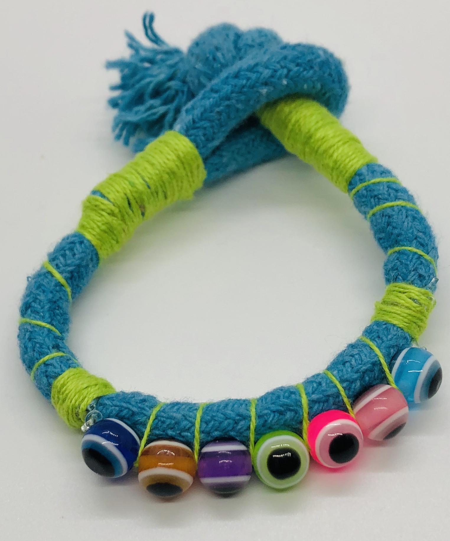 Turkish Eyes Bracelet -Turquoise Blue