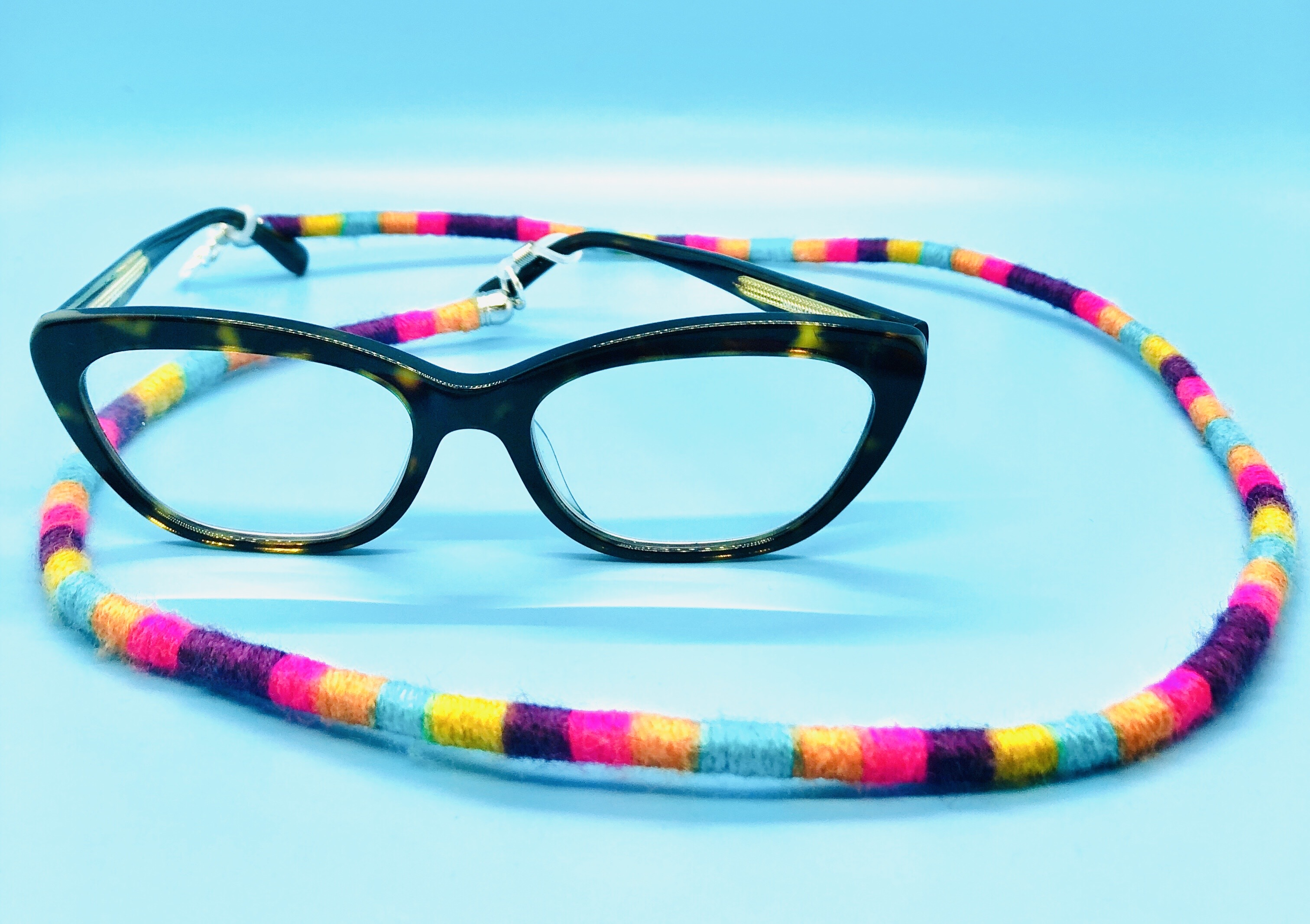 Rainbow Frame Cord and Necklace