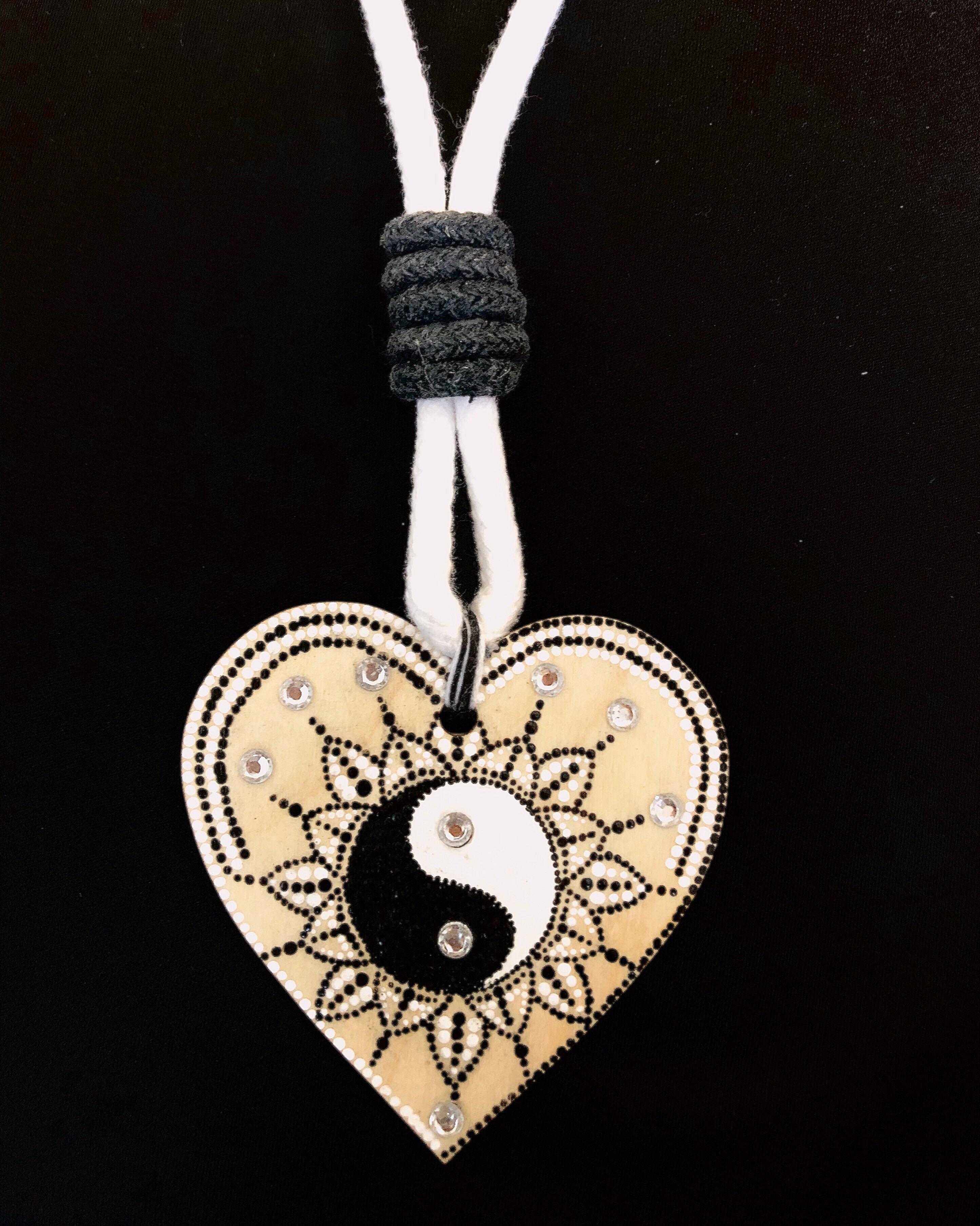 "Yin Yang ""Corazones"" Pendant Necklace"