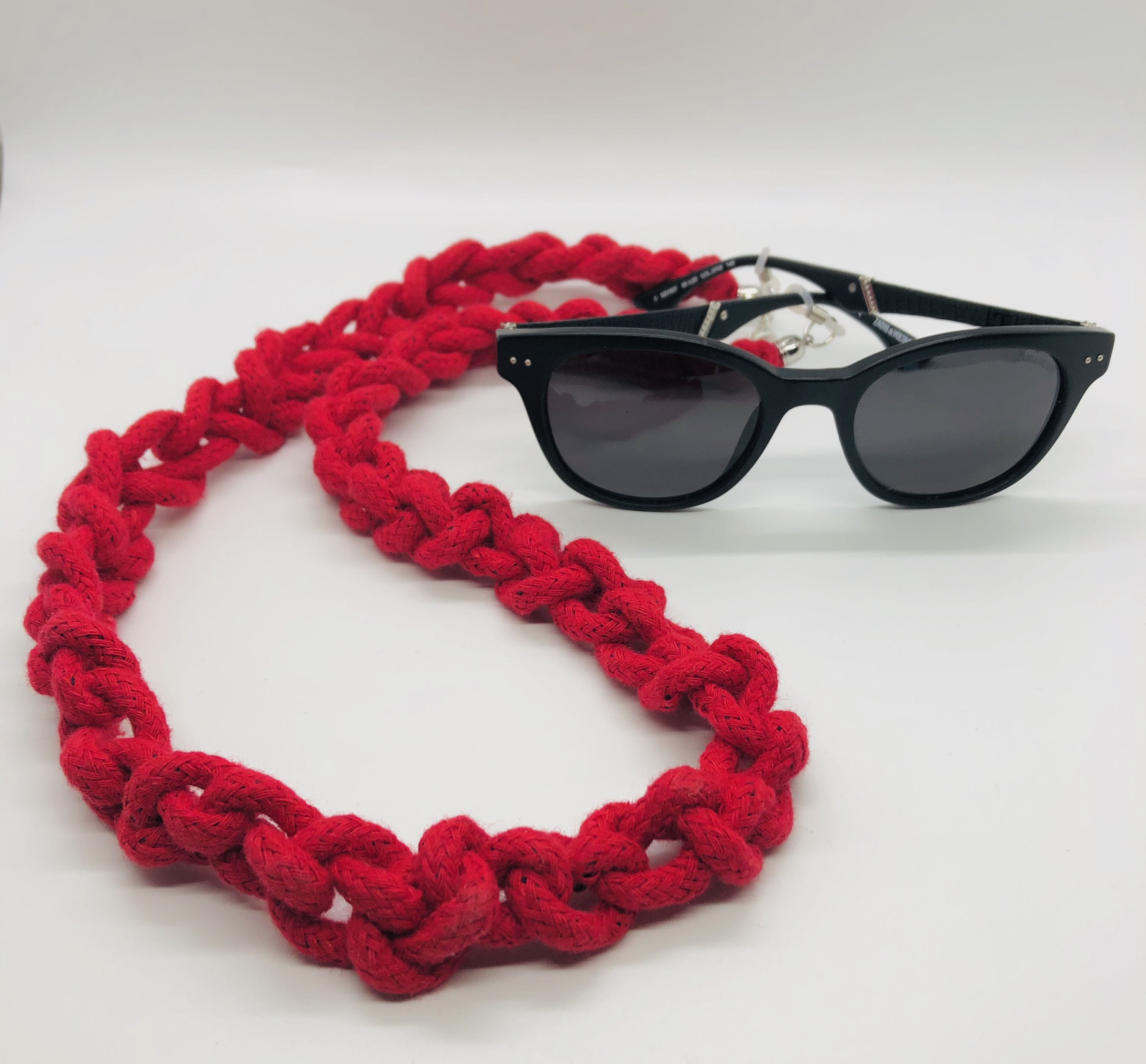 UDON Glasses Chain & Necklace - Red