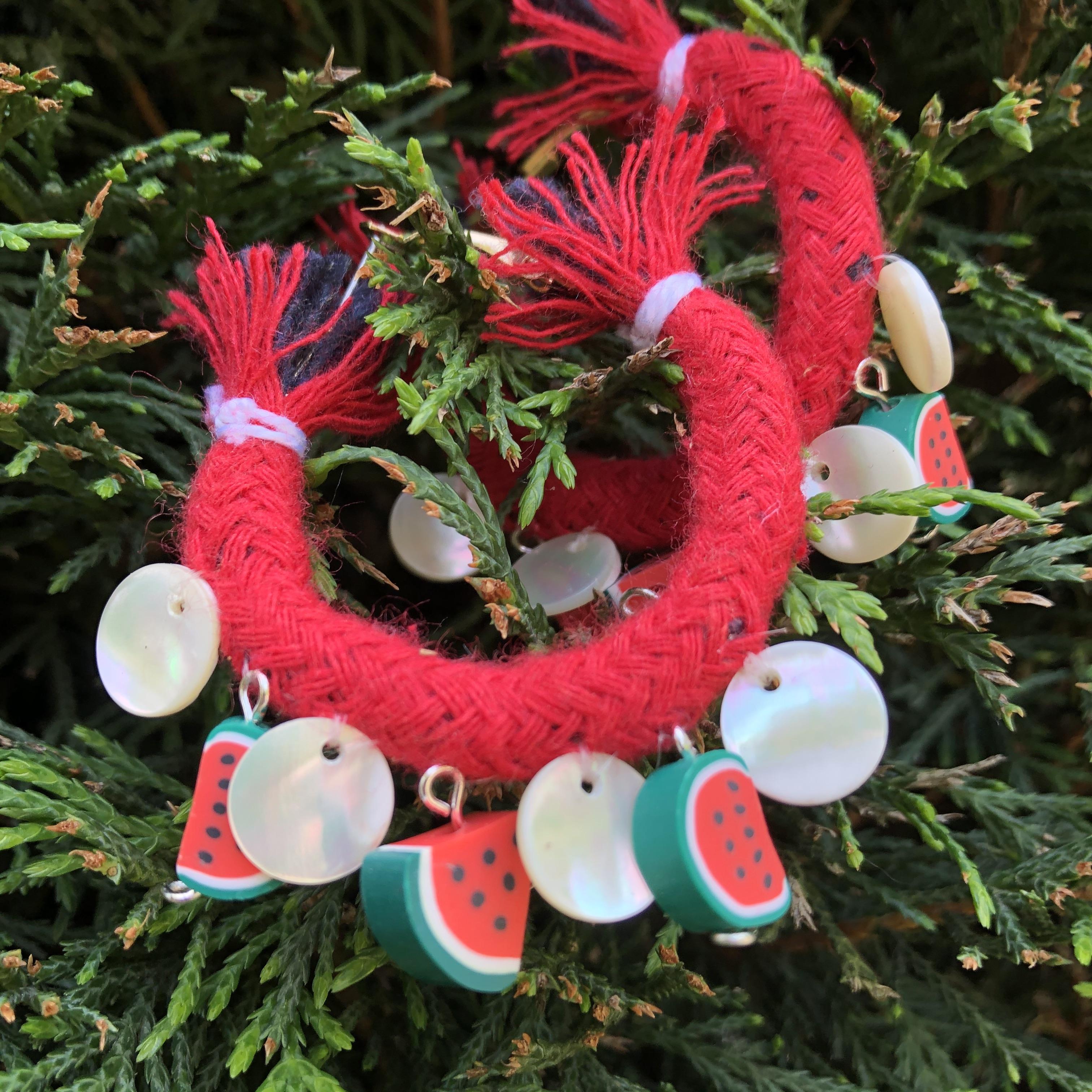 Watermelon Hoop Earrings
