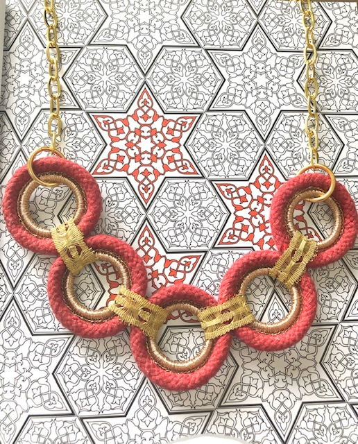 Autumn Collection -Brick Red Necklace