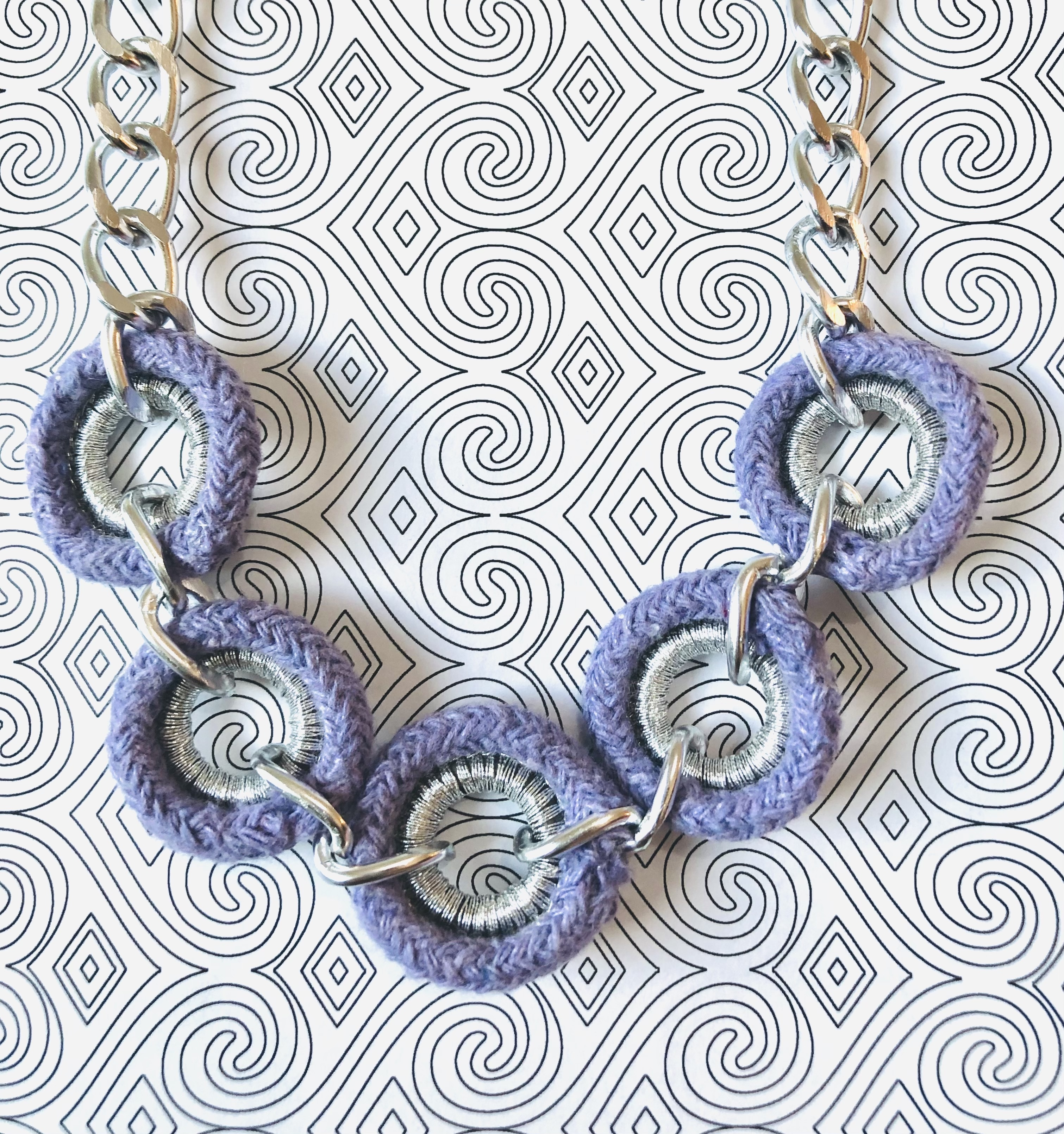 Lavender & Silver Chain Necklace