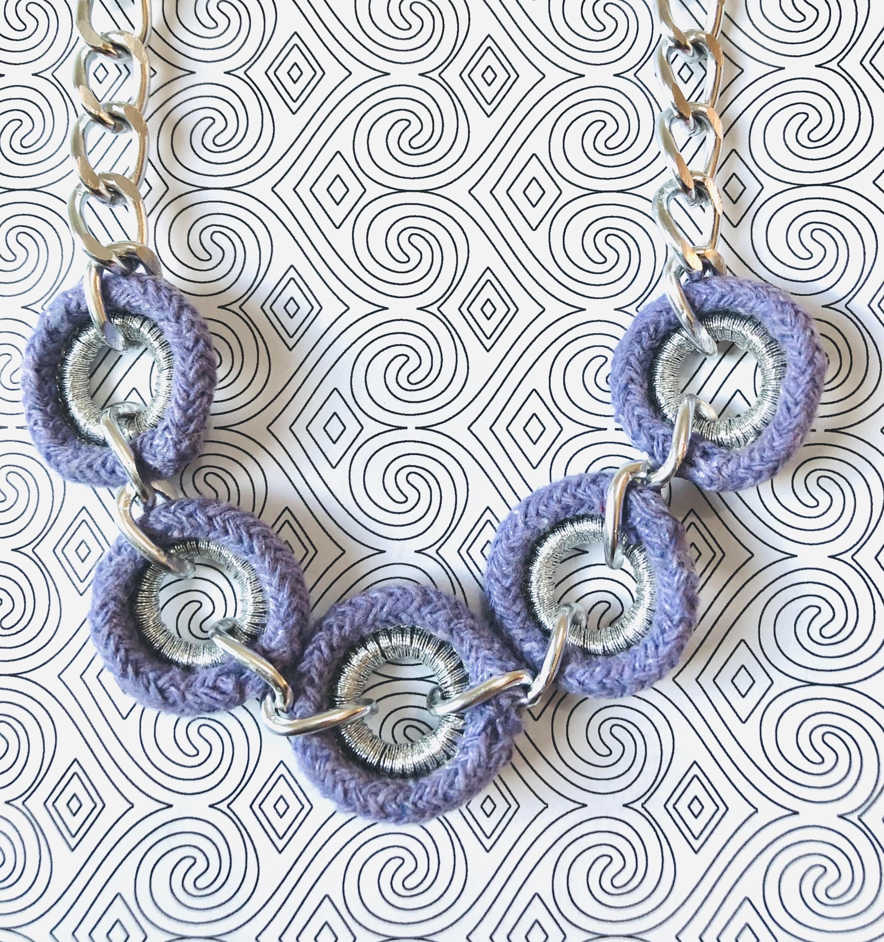 Lavender & Silver Chain Necklace