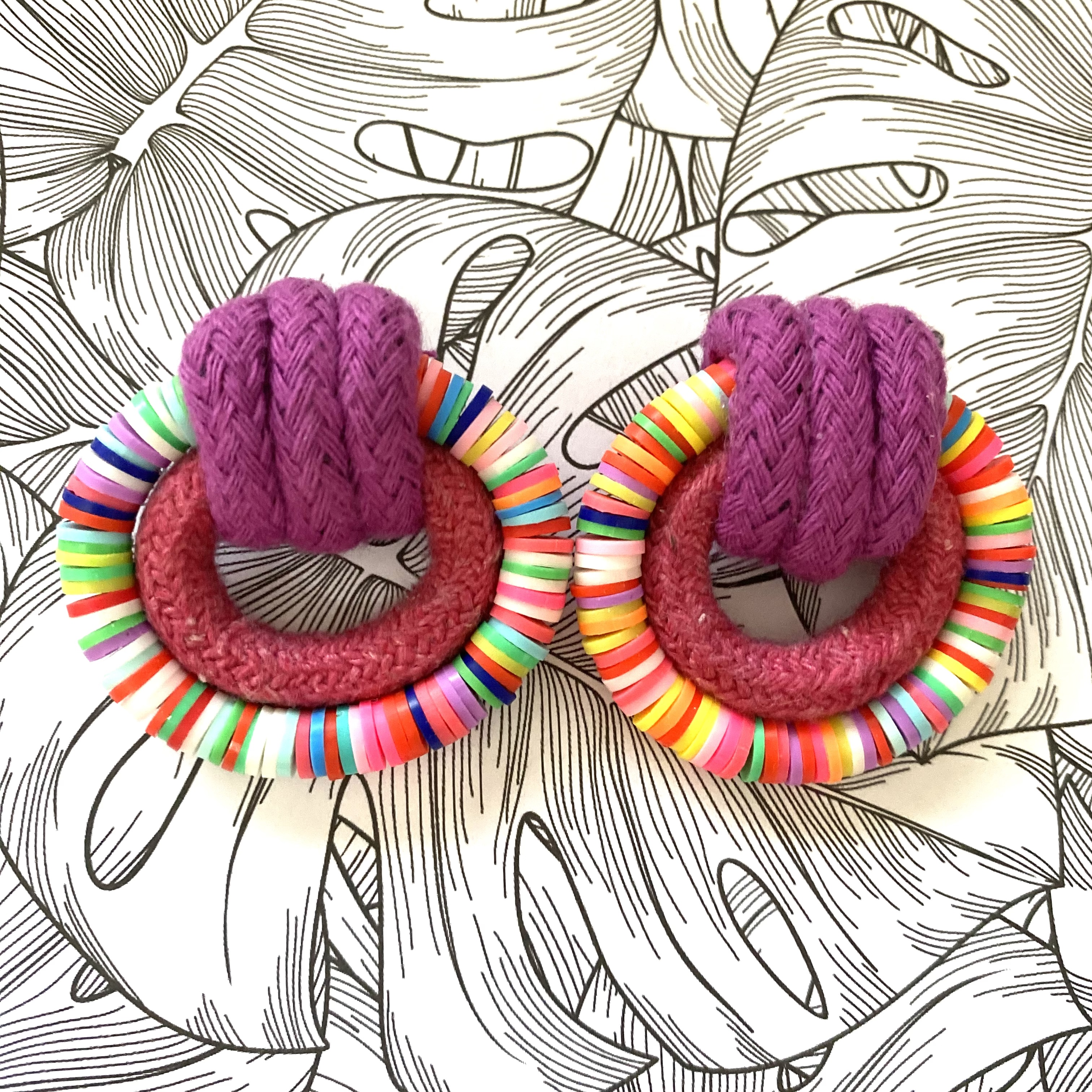 Candy Land Earrings - Purple