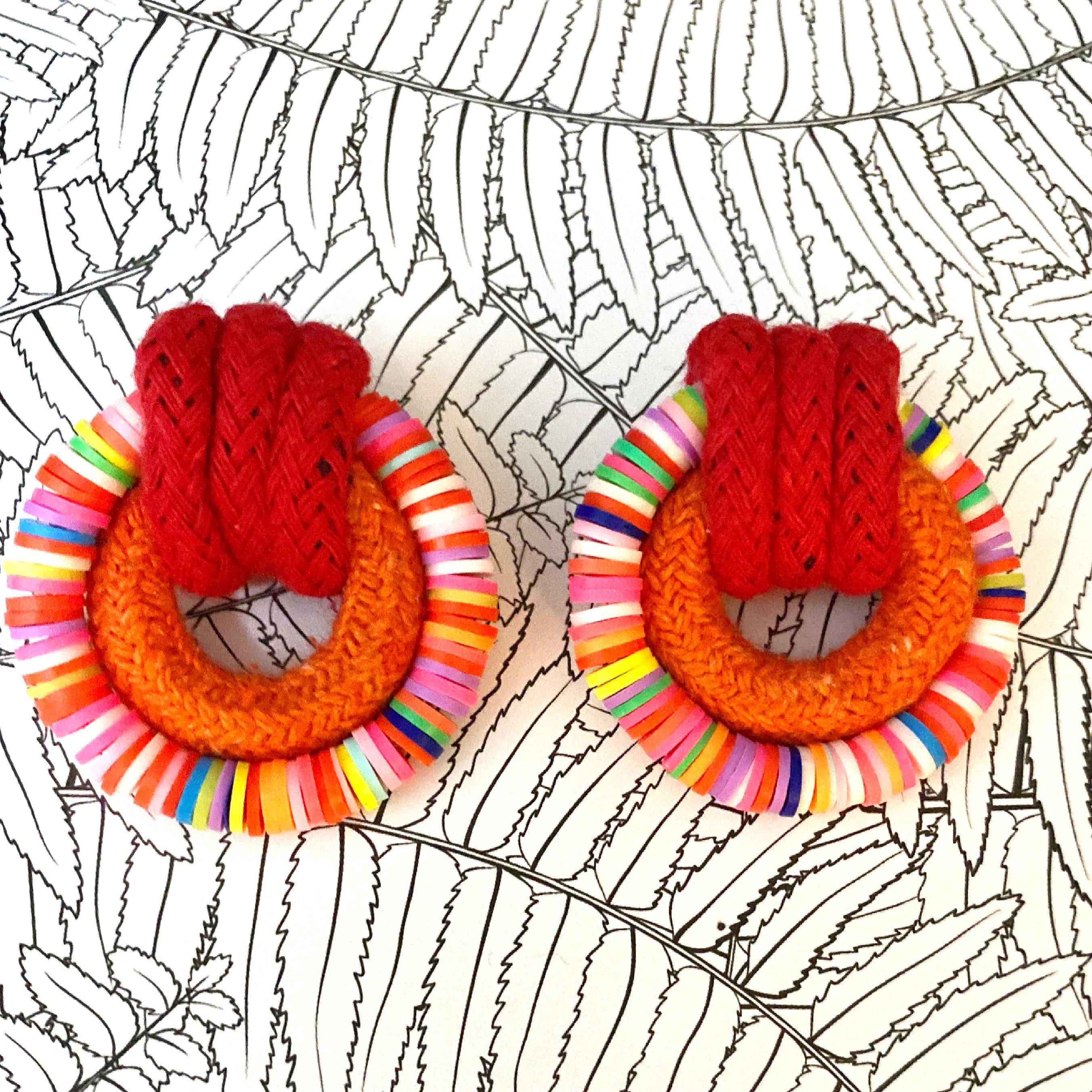 Candy Land Earrings - Red & Orange