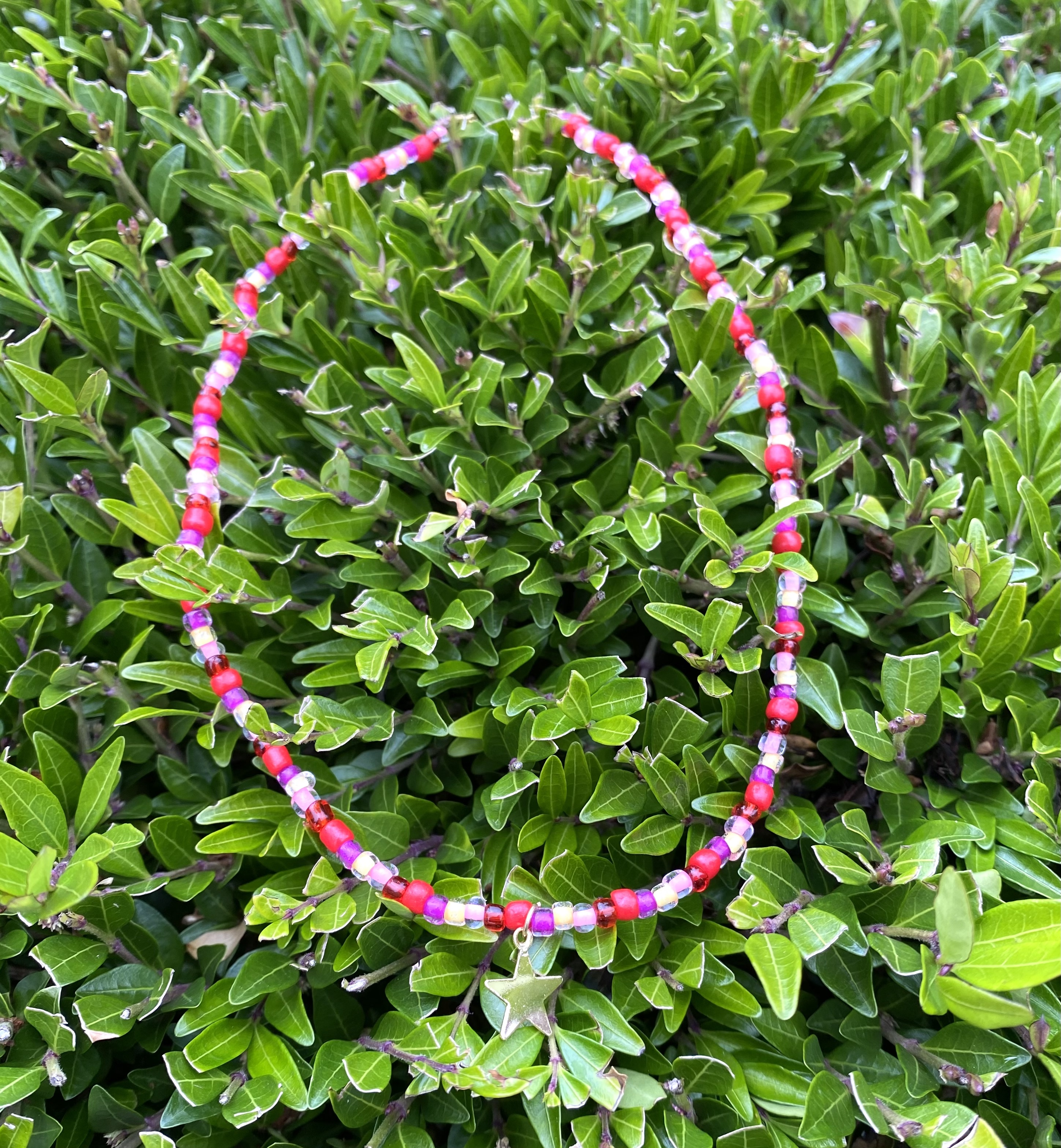 Multicolour Beaded Necklaces with a Star Charm