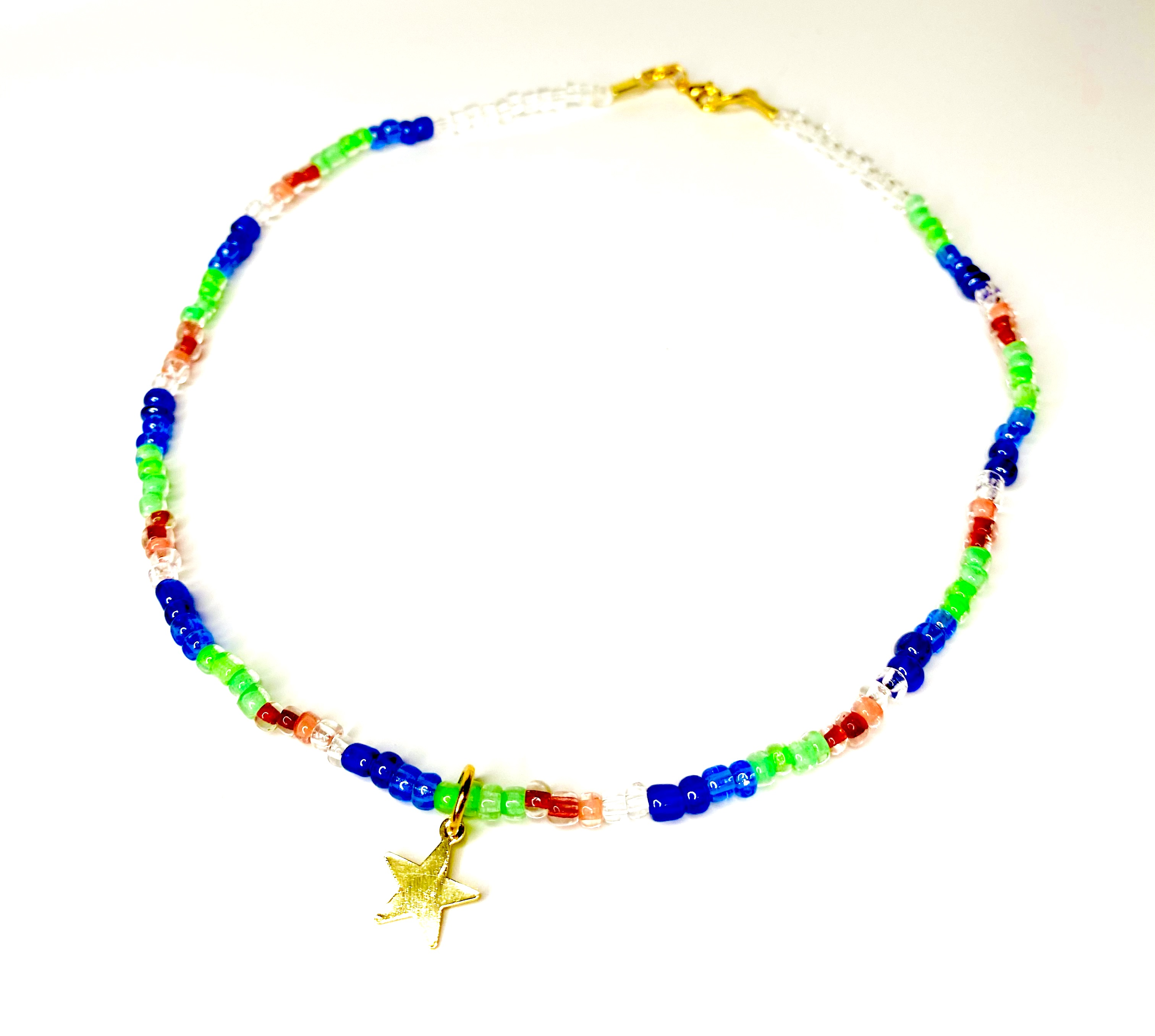 Multicolour Beaded Necklace with Star Charm