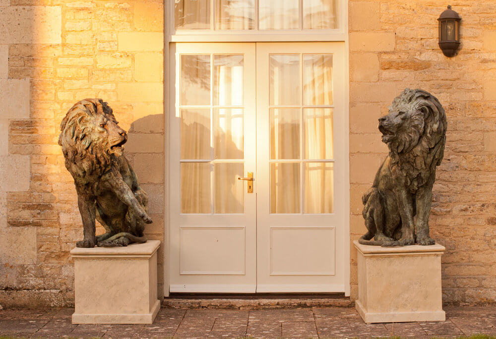 Theodore Gillick, Pair of Lions, at Muse. The Sculpture Company