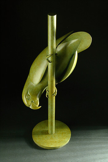 Geoffrey Dashwood, Amazon Parrott at Muse. The Sculpture Company