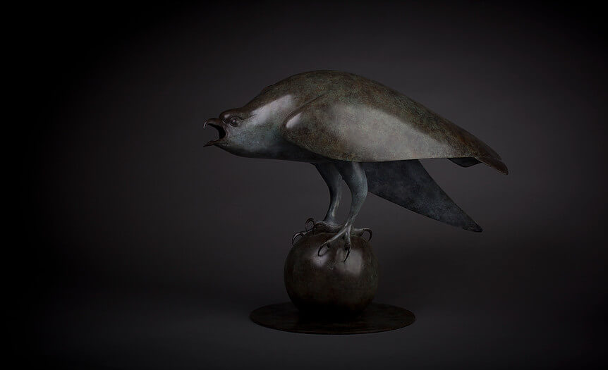 Geoffrey Dashwood, Osprey at Muse. The Sculpture Company