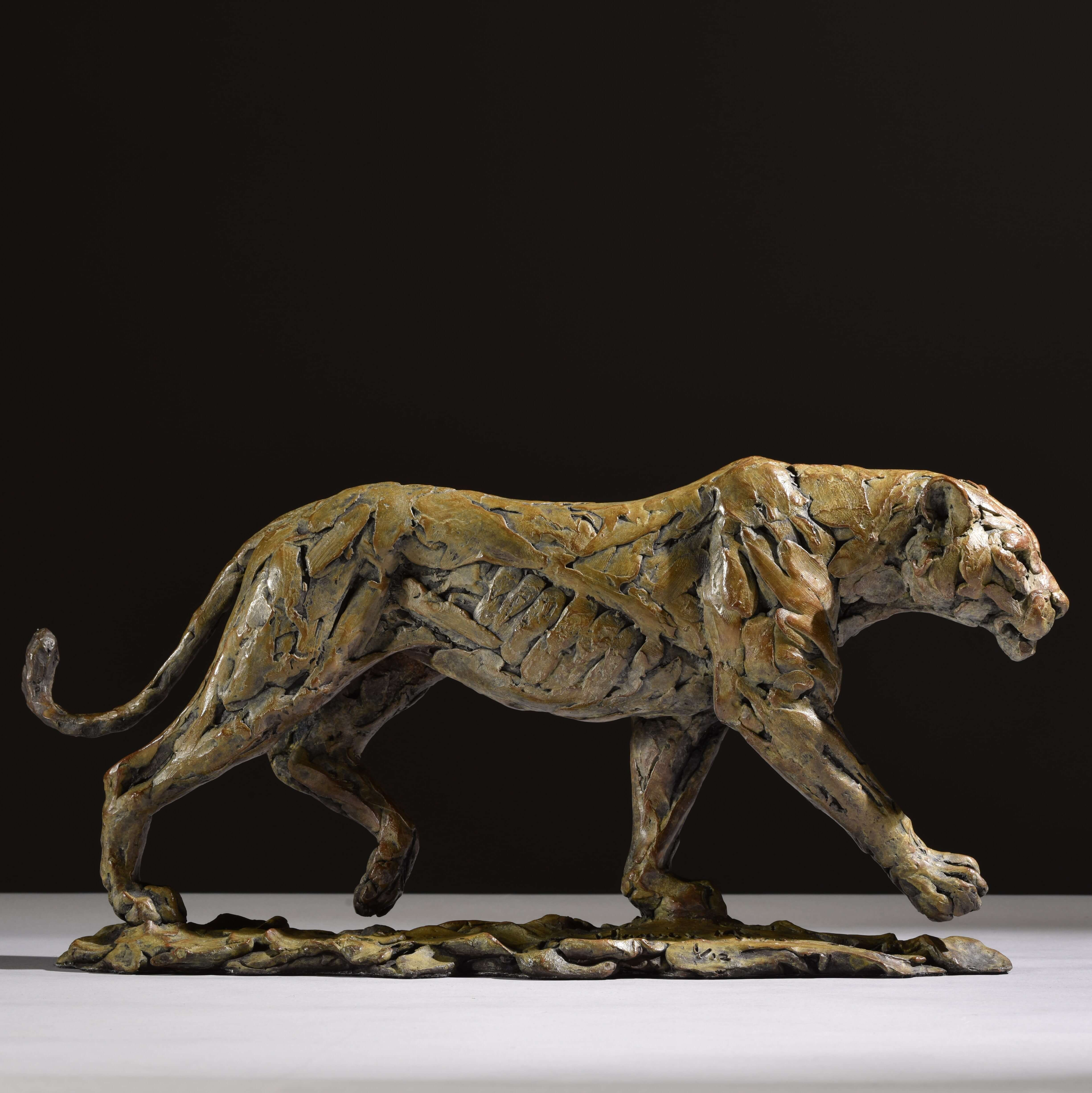 Lioness Walking by Hamish Mackie at Muse. The Sculpture Company