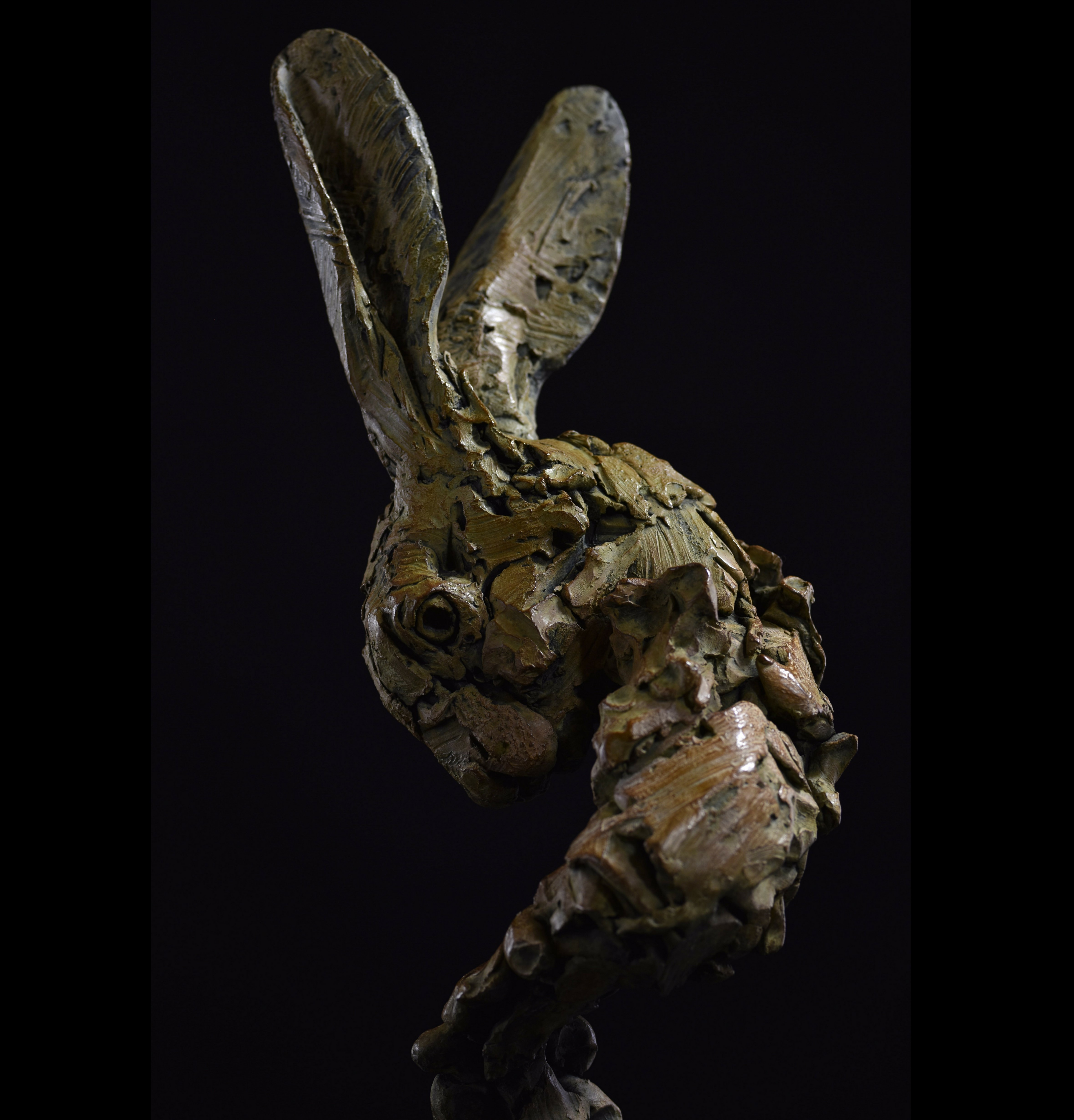 Hare Head by Hamish Mackie at Muse. The Sculpture Company Head