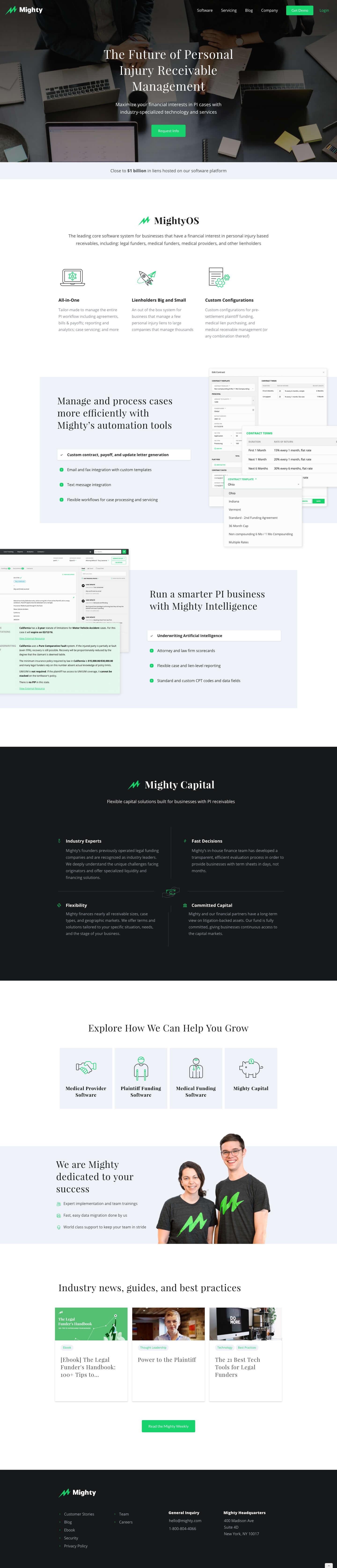 Finsweet Webflow development for Mighty