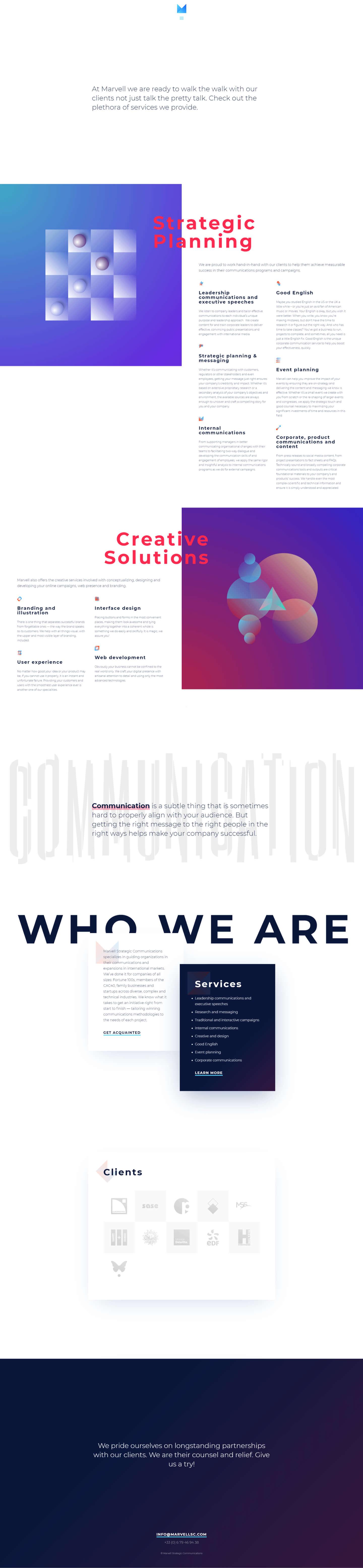 Finsweet Webflow development for Marvel Strategic Communications