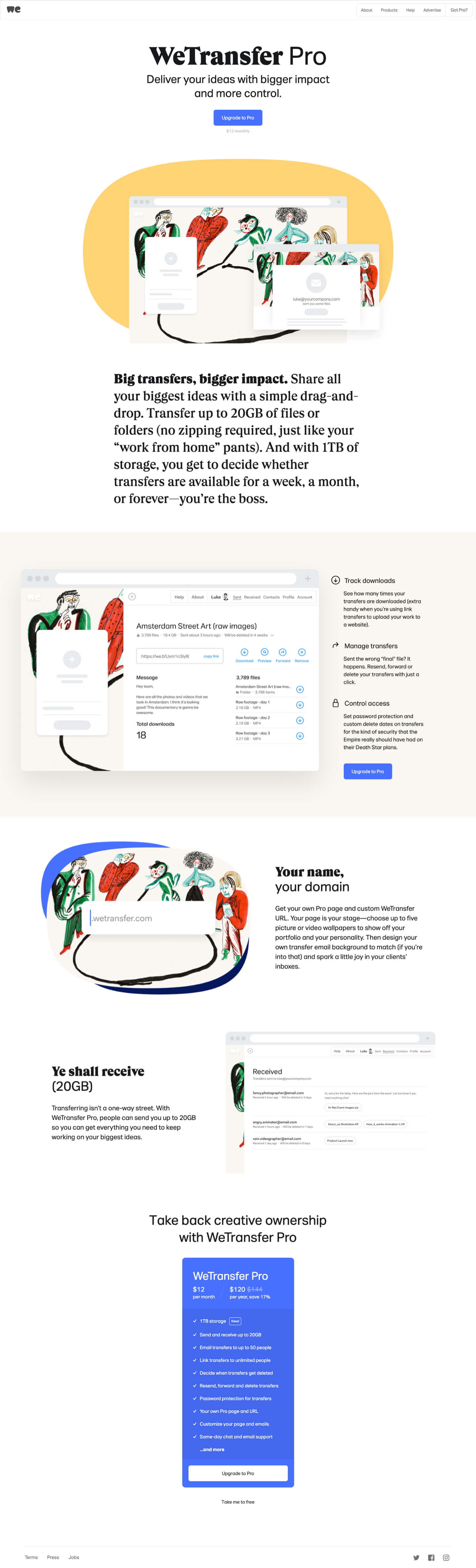 Finsweet Webflow development for WeTransfer