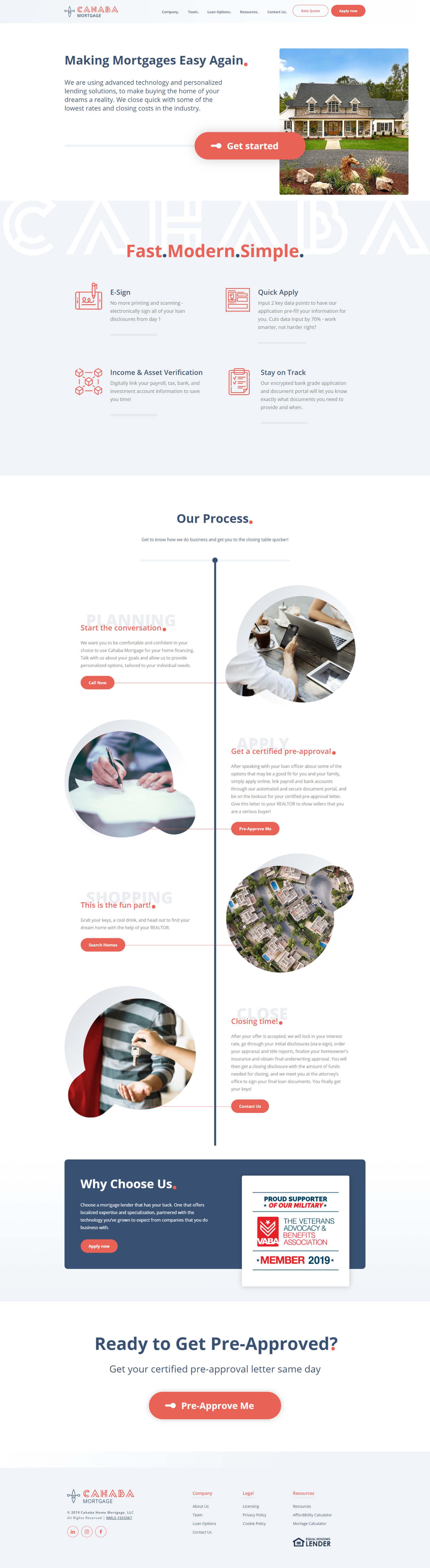 Finsweet Webflow development for Cahaba Mortgage