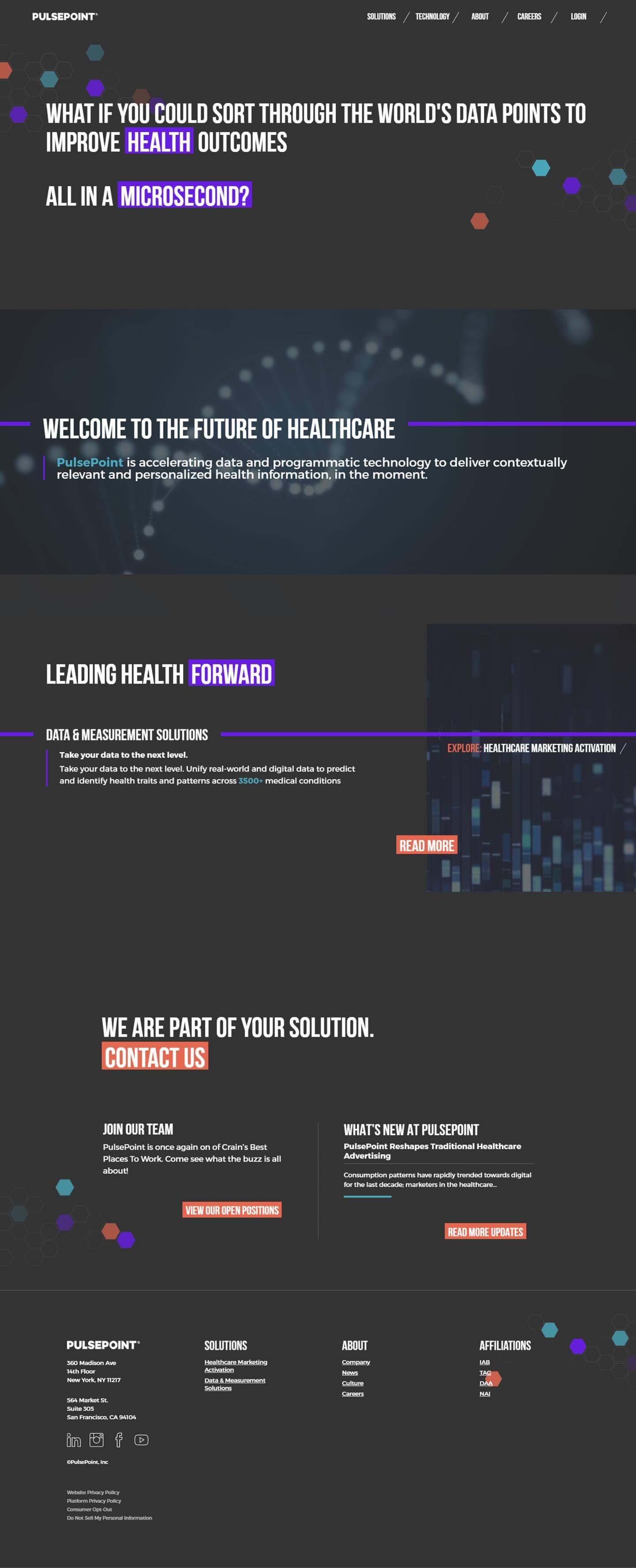 Finsweet Webflow development for PulsePoint