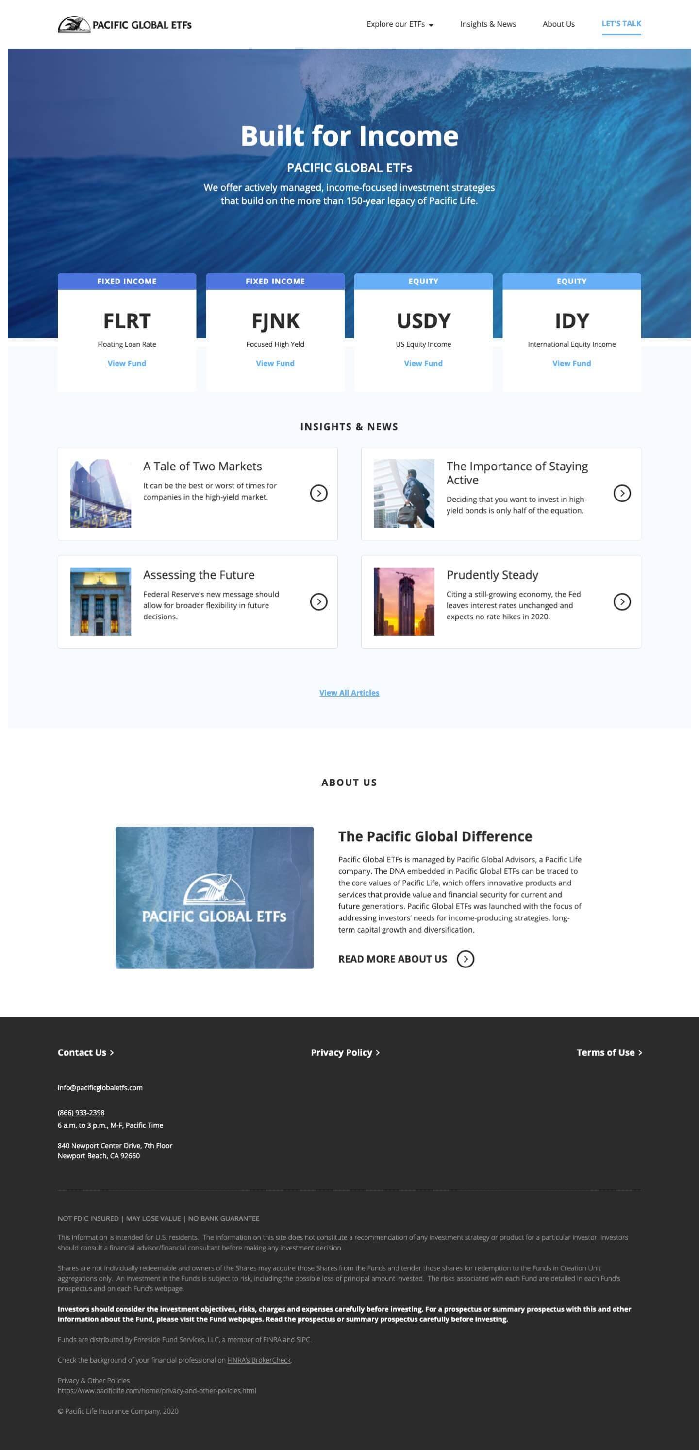 Finsweet Webflow development for Pacific Global