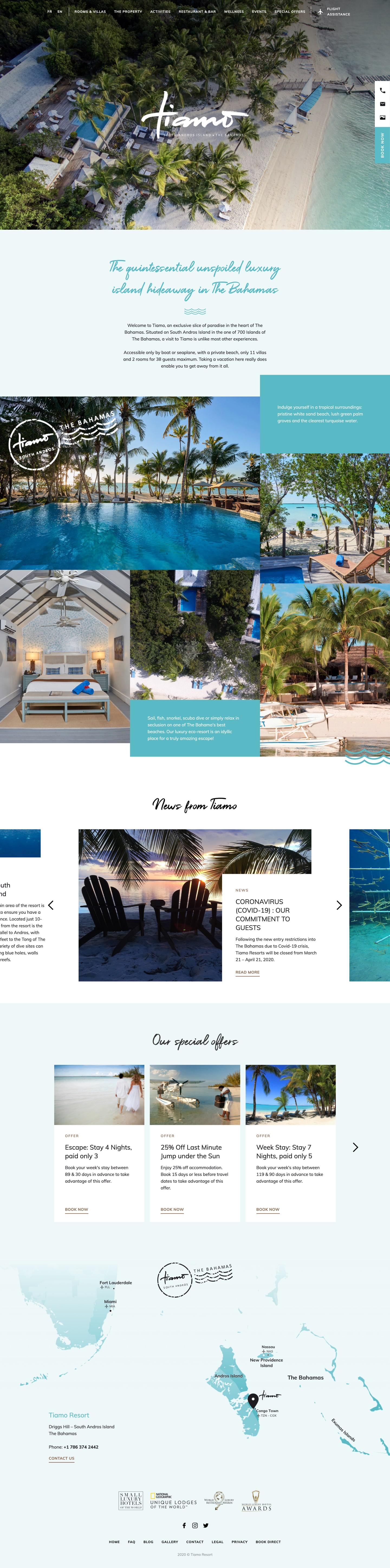 Finsweet Webflow development for Tiamo Resorts