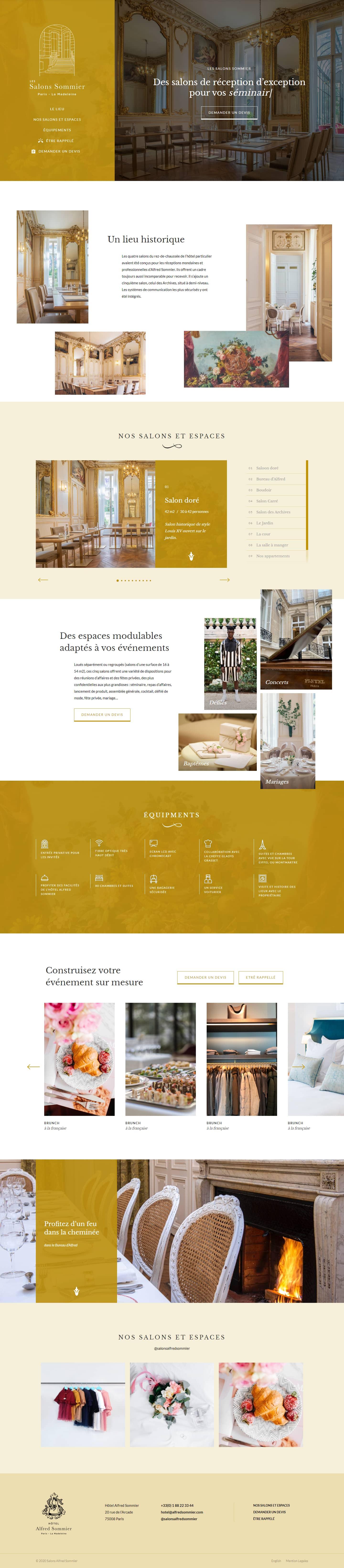 Finsweet Webflow development for Les Salons Sommier
