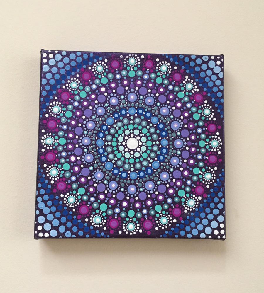 Blue-Purple Mandala