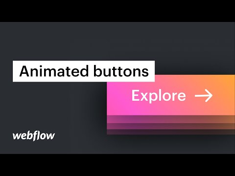 Animated buttons and flexbox button wrappers — Web design tutorial