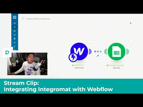 Using Webflow with Integromat - Stream clip - Tutorial