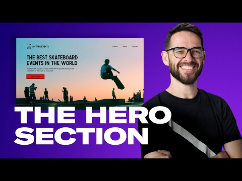 CREATING A GOOD HERO FOR YOUR WEBSITE: Free Web Design Course 2020 | Episode 10