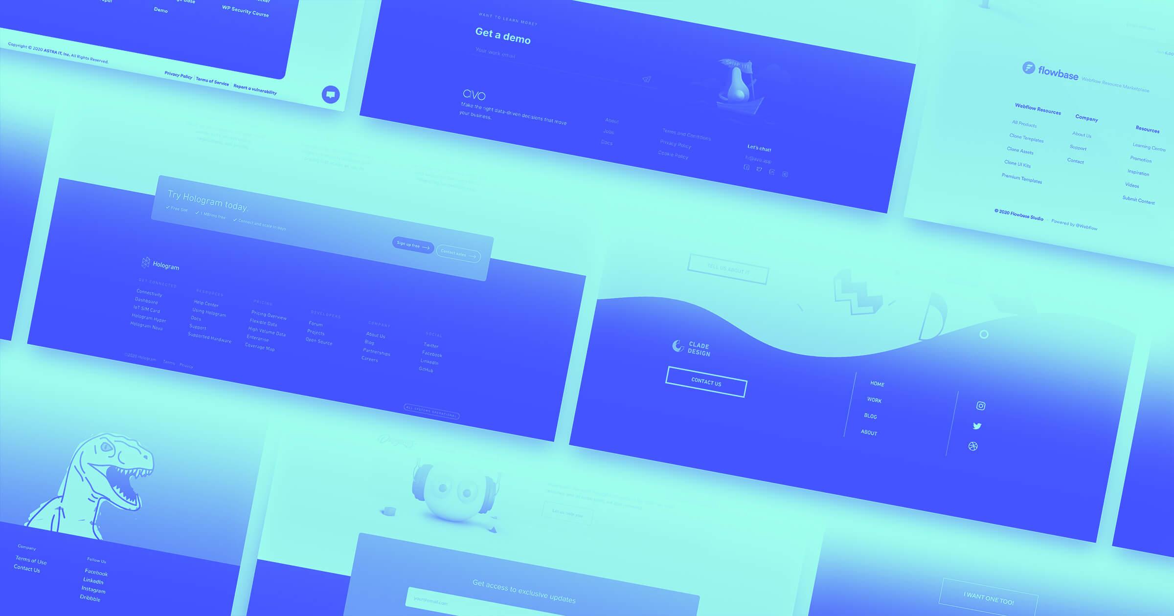 13 unique website footer design examples