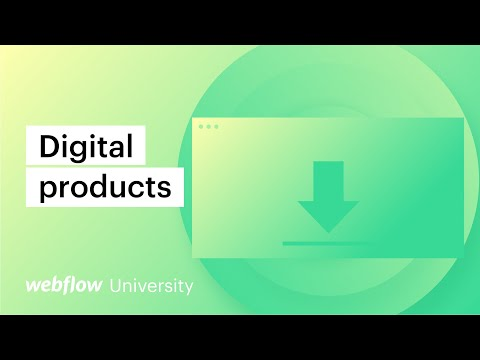 How to sell digital products with Webflow Ecommerce