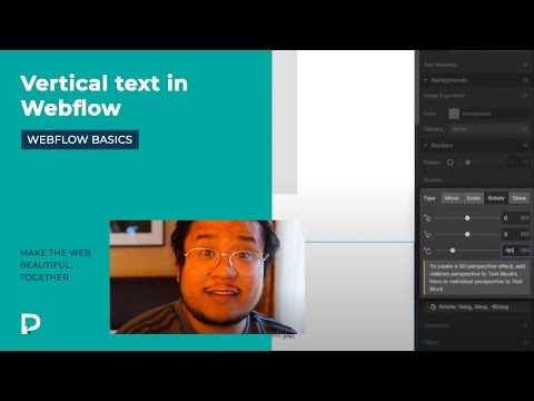 How to create vertical text - Webflow Basics