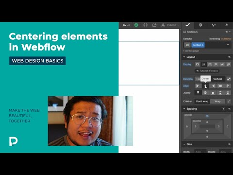 How to center elements in Webflow - Web Design Basics