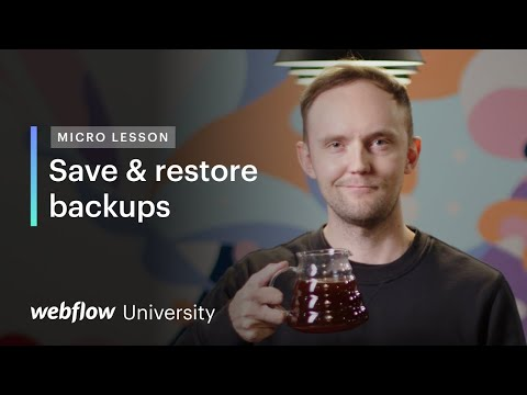 Micro Lesson #4: Create critical design backups —Webflow University