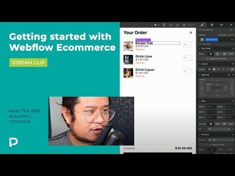 Getting started with Webflow E-Commerce - Stream Clip