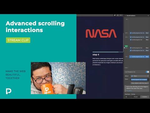 Advanced scroll interactions in Webflow - Stream clip tutorial