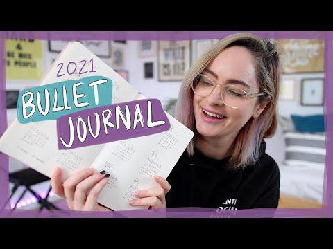 My bullet journal setup for goals & planning in 2021!