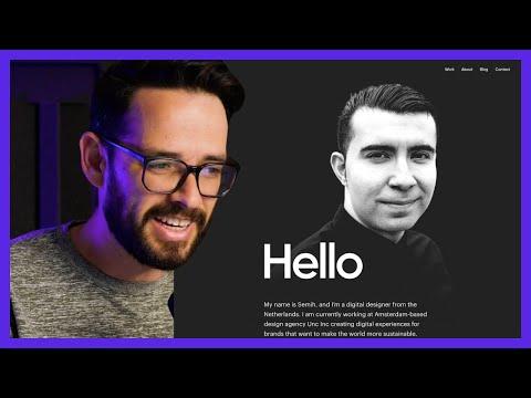 If Apple Designed a Portfolio Website (Amazing Visual Design!)