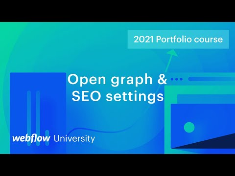 SEO titles, meta descriptions, and Open Graph settings — Build a custom portfolio in Webflow, Day 11