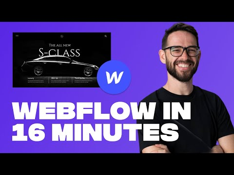 Learn Webflow in 16 Minutes (2021 Crash Course)