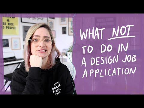 Top 5 mistakes to avoid in a design job application