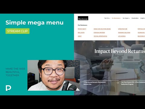 Simple Mega Menu in Webflow - Tutorial (2021)