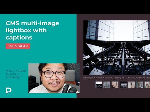 Create CMS multi-image lightbox with captions - Webflow Tutorial (2021)