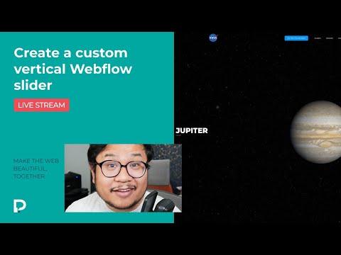 Create a custom vertical Webflow slider - Webflow Tutorial (2021)