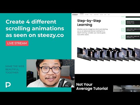 Create 4 different scrolling animations as seen on Steezy.co - Webflow Tutorial (2021)