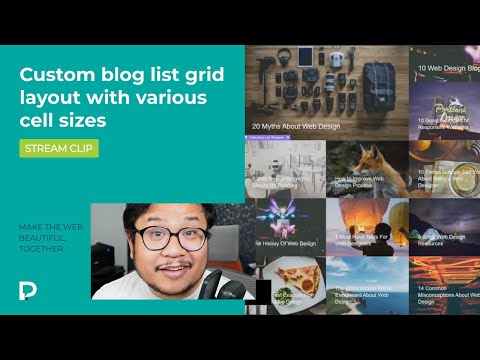 Create a custom blog list grid layout with various cell sizes in Webflow — Tutorial (2021)