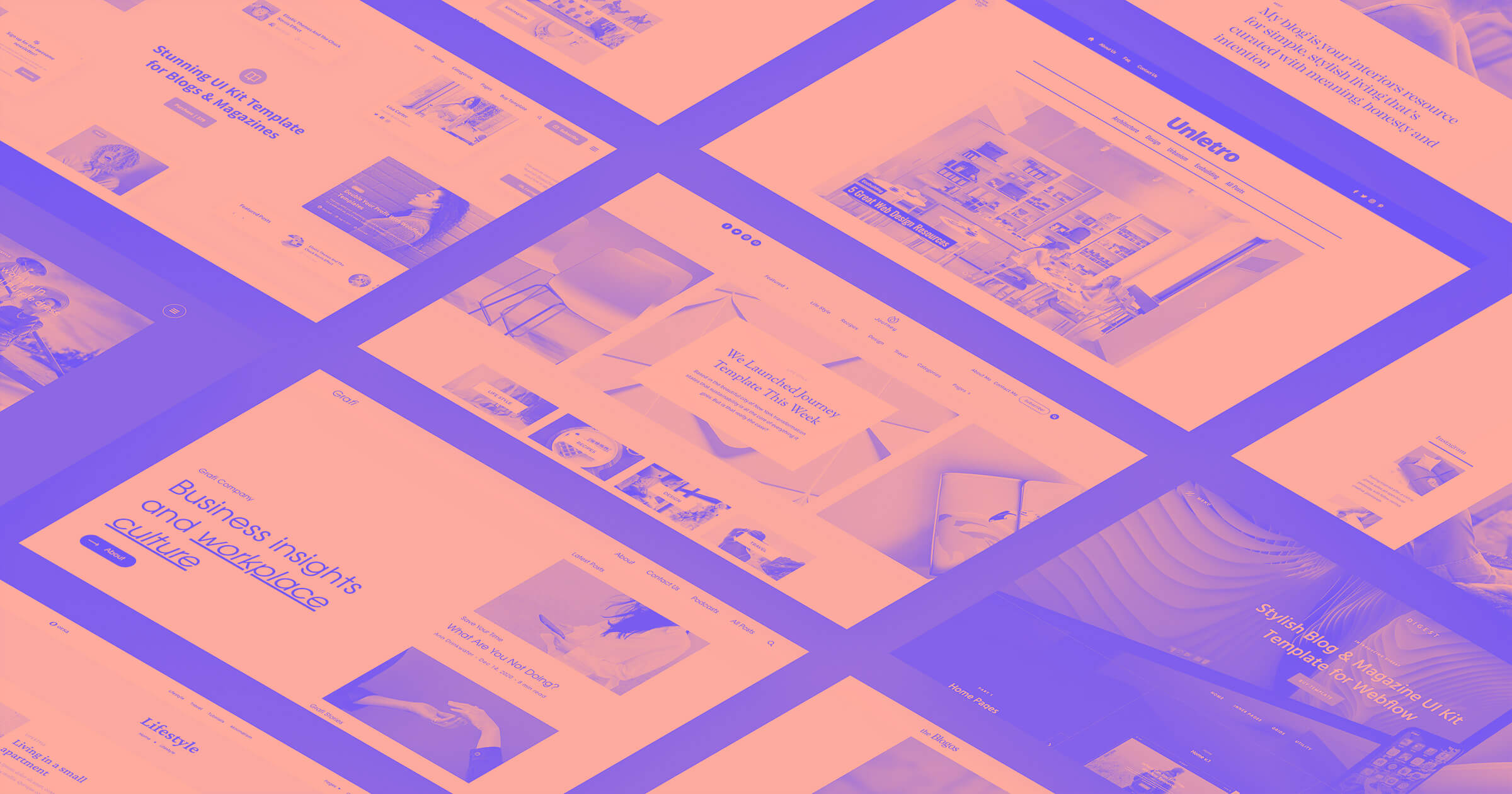 8 templates to start blogging with Webflow
