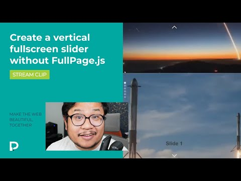 Create a vertical fullscreen slider without FullPage.js